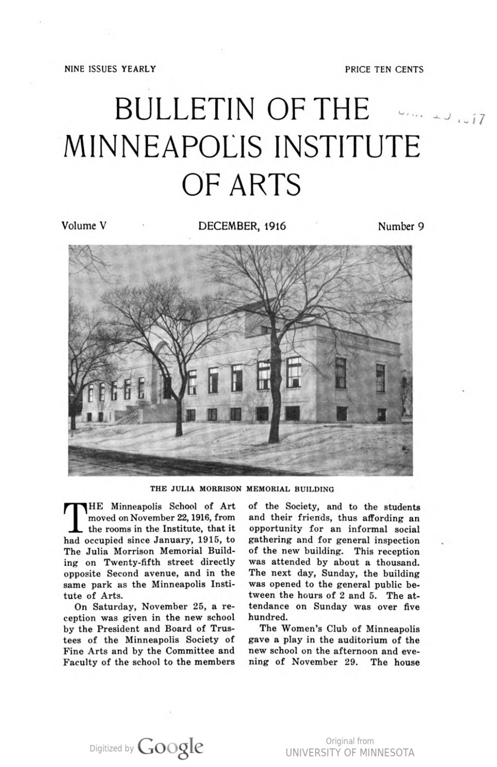 "Bulletin of the Minneapolis Institute of Arts, The Minneapolis Institute of Arts, Minneapolis, MN, ""Notes and accessions : Changes in the Martin B. Koon memorial collection"", volume 5, number 9, December, 1916, page 74, not illustrated."