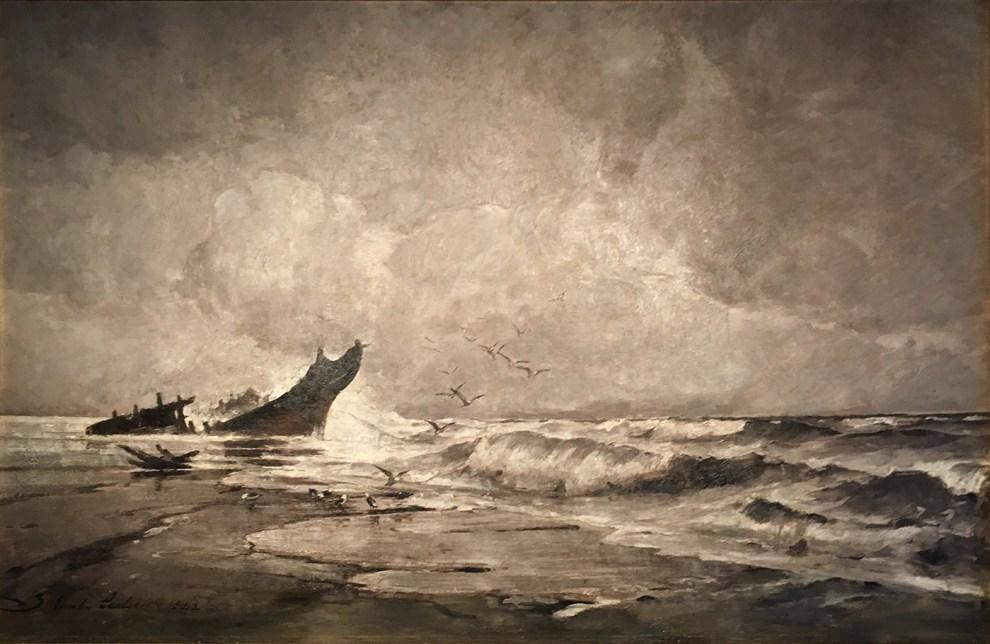 Emil Carlsen : Nantasket Beach Nor'easter, 1882.