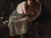 Emil Carlsen : Portrait of a maid, 1884.