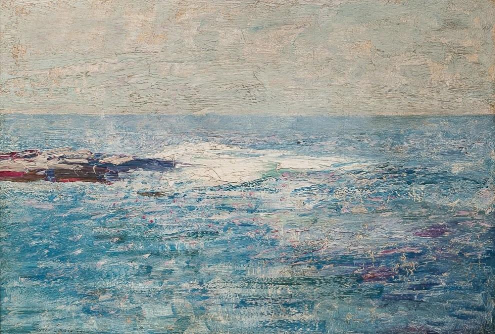 Emil Carlsen : Rocky shoal, 1927.