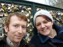 Nial, me and our lock on the Pont Des Arts, Paris