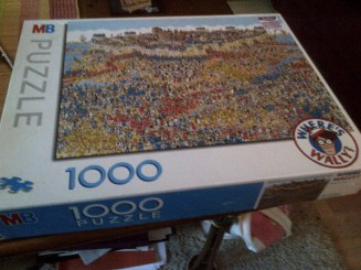 Who decided it was a good idea to buy a Where's Wally jigsaw? Oh yeah, me. *stress*
