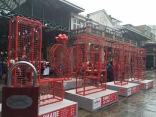 Love locks at Covent Garden market