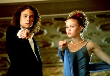 Heath Ledger and Julia Stiles