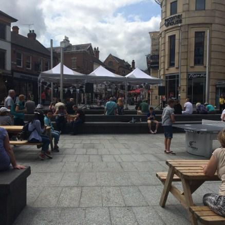 The Big Busk on Trinity Square, Nottingham