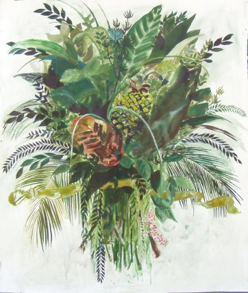 Burst-Foliage, watercolor on paper, 42 by 36 in. Emilia Kallock 2004