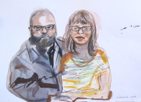 Chris Erin Save the Date 2, watercolor on paper, 5 by 6 in. Emilia Kallock 2014