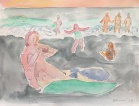 Chile, Miramar, watercolor on paper, 9 by 11 in. Emilia Kallock 2017