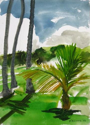 Kikila 5, watercolor on paper, 18 by 12 in. Emilia Kallock 2008