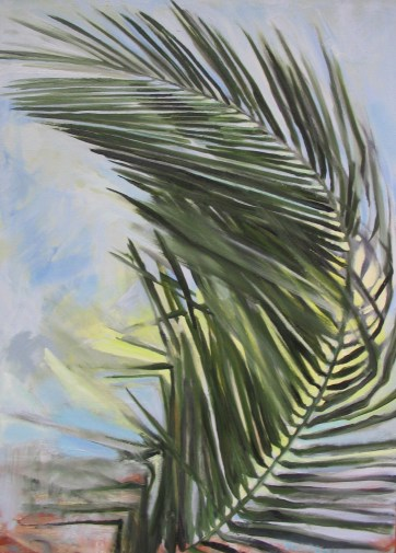 Palm Frond, oil on canvas, 30 by 24 in. Emilia Kallock 2005
