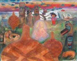 Reunion, acrylic on canvas, 60 by 72 in. Emilia Kallock 2013