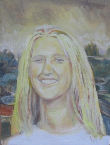 Mona Lisa Variation, oil on canvas, 18 by 12 in. Emilia Kallock 2005