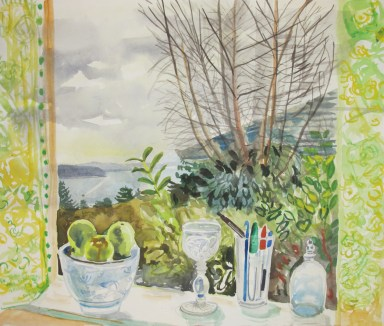 Valentines Day View, watercolor on paper, 18 by 24 in. Emilia Kallock 2012