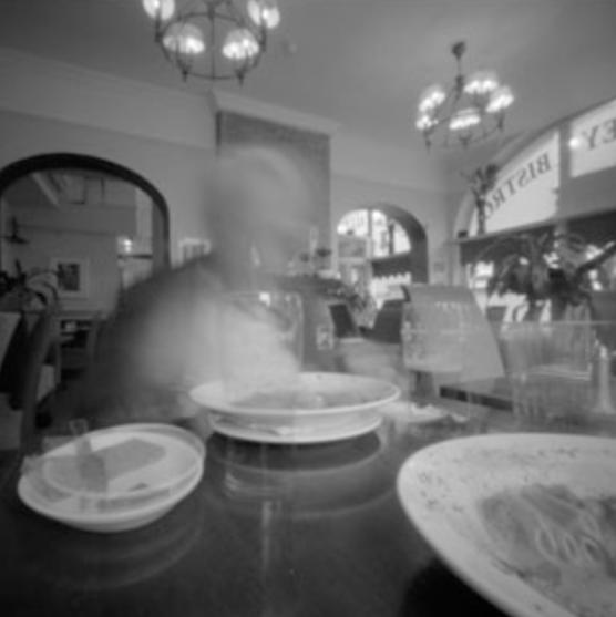 6-4-11. Dinner in Dublin, 2 min. pinhole exposure