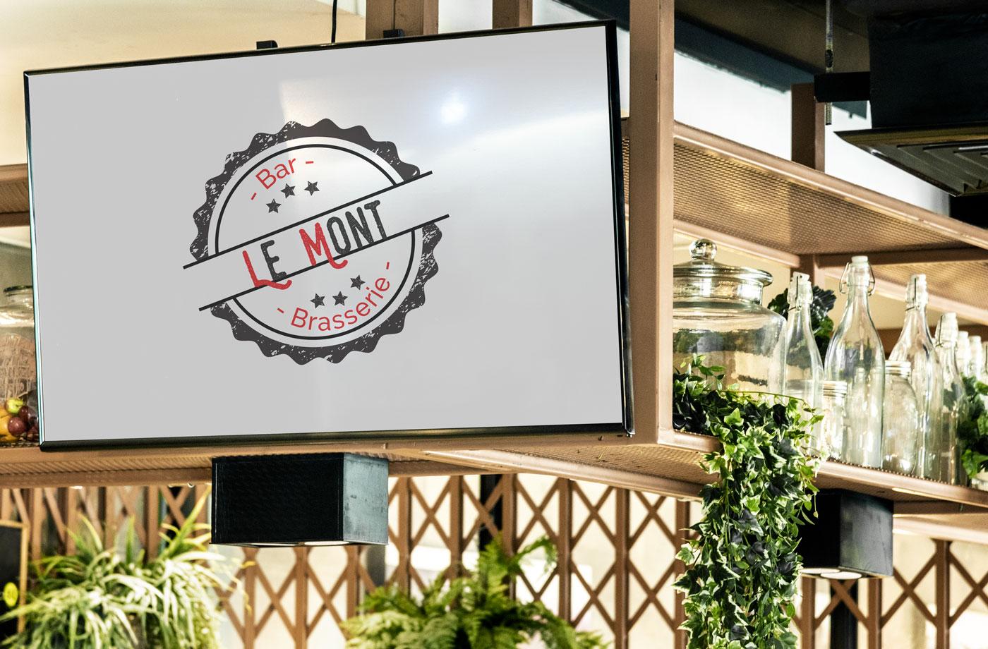 Logo du Bar Brasserie Le Mont réalisé par Emilia Simandy webdesigner graphiste à Lille