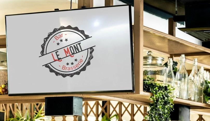 Logo du Bar Brasserie Le Mont, réalisé par Emilia Webdesign, webdesigner graphiste à Lille