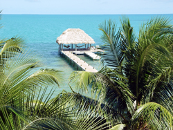 Pier in Belize. Photo Credit: Emilie C. Harting