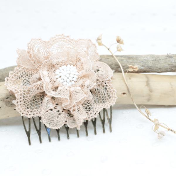 peigne fleur cheveux mariage