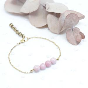 bracelet pierre rose