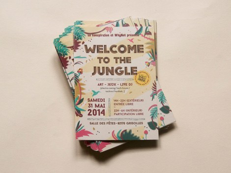 Dépliant programme, festival Welcome to the Jungle