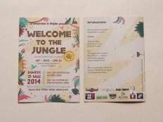Dépliant programme, évènement Welcome to the Jungle