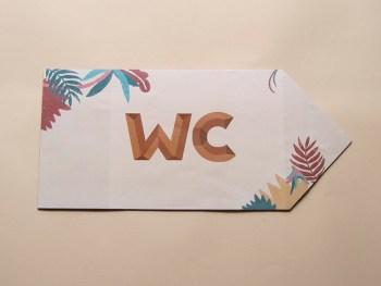panneau indicateur, signalétique, festival, jungle, panneau, carton