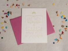 confettis, carte, message, fête, amour, enveloppe, papeterie, illustration, graphique