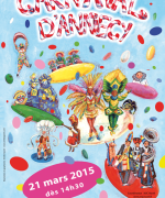 annecy carnival poster 2015 by emilie geant, affiche du carnaval d'Annecy 2015