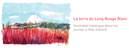 Illustrated travelogue about a journey in New Zealand by Emilie Geant, Illustrated NZ road trip