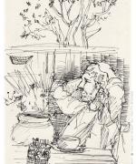 Breaker's, cafe, coffee, Emilie Geant, illustration, sketch, new zealand