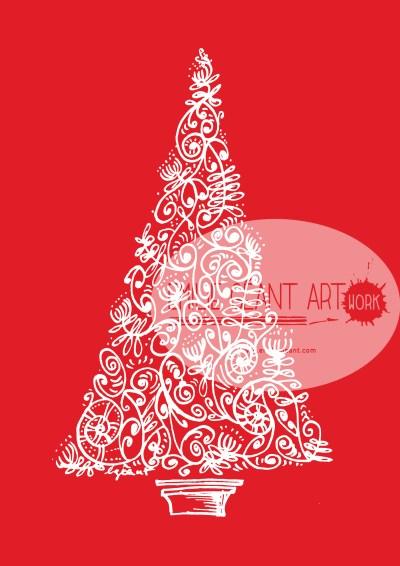 christmas, tags, label, greeting cards, tree, prints, koru, holiday, santa, elf, merry