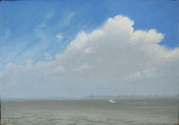 "Sandy Hook, 8""x10"" oil on linen"