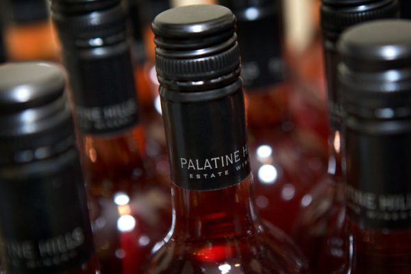 Palatine Hills rosé bottle top