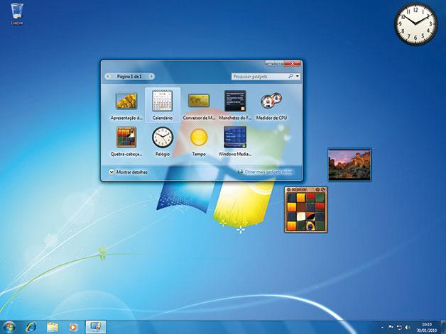 Área de trabalho do Windows 7