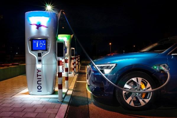 La carga de un coche eléctrico en corriente continua