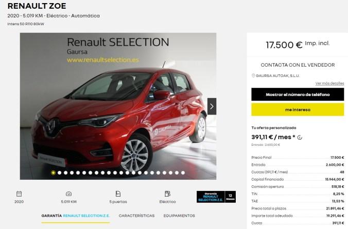 Renault ZOE Intens R110 ZE50 - Más info en Renault Ocasión
