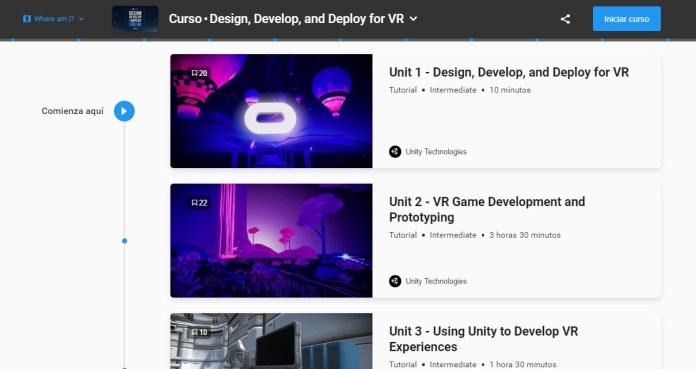 curso realidad virtual oculus unity