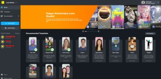 snapchat lens studio face mesh