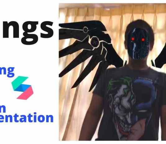 spark ar wings realidad aumentada