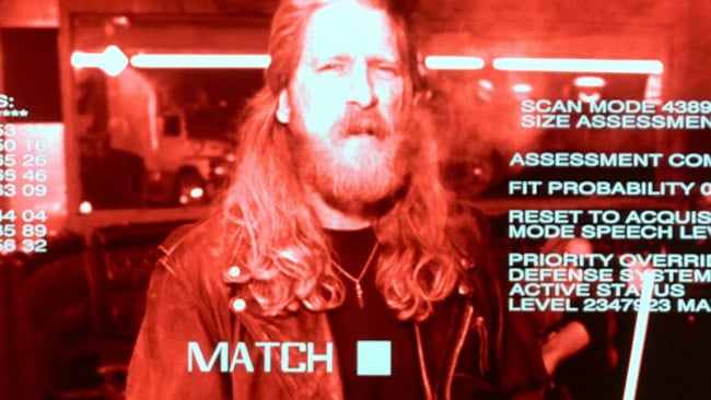 terminator scan augmented reality scene bar terminator realidad aumentada