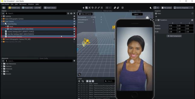 Lens Studio Hair Simulation