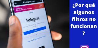 filtros de instagram no funcionan