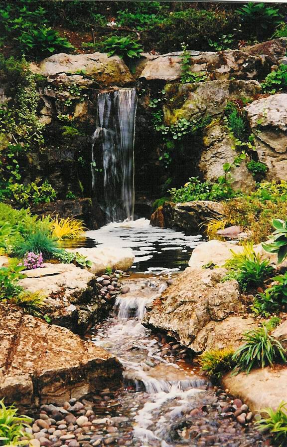 Waterfall and Rock Garden Hofstra Bird Sanctuary