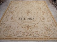 flat weave aubusson carpets 9.8' X 13.1' Ivory Field Ivory ...
