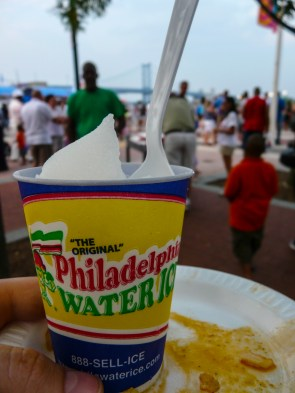 """This was my favorite local specialty - ordered it all over the place, since the days were very warm. Made sense to buy it at the """"Taste of Philadelphia"""""""