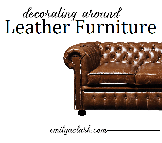 Living Room Decorating Ideas Around A Black Leather Couch