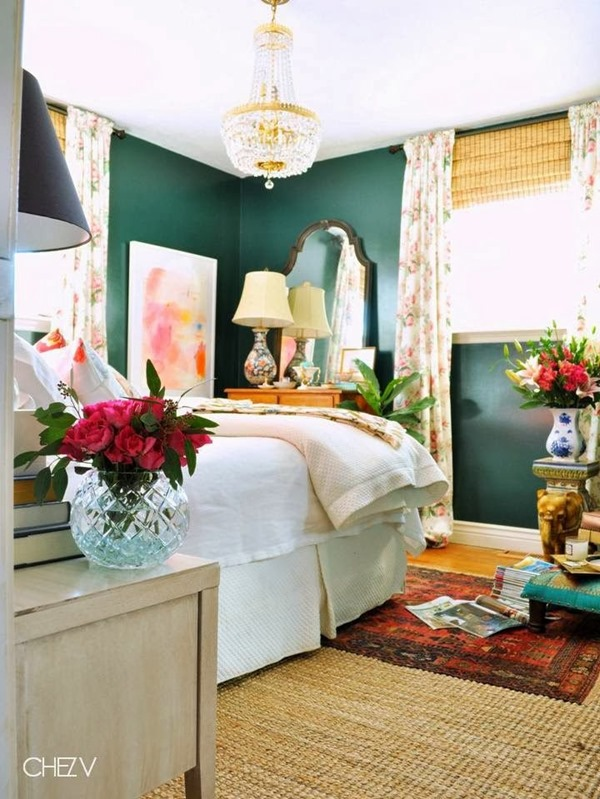 Design Planning Dark Green Walls  Emily A Clark