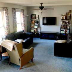 Living Room Blue Decorating Ideas Grey Vinyl Flooring Give Take The With Carpet Emily A Clark