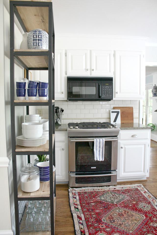 kitchen bookshelf cabinet white bookshelves archives emily a clark dishes storage