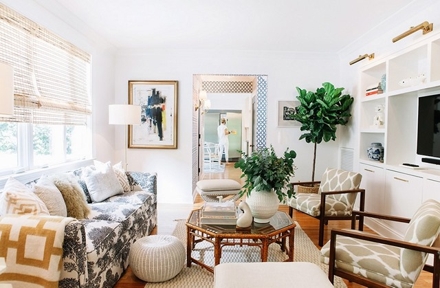 what color should i paint my living room with a tan couch mixing leather and fabric furniture in 5 ways to warm up white walls - emily a. clark